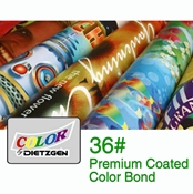 "36""W Rolls - 36lb. Premium Coated Inkjet Bond - 2"" Core"