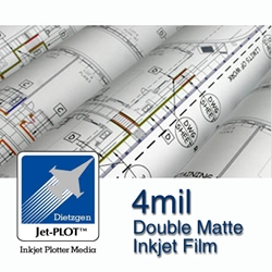 "24"" x 120 Roll - 4mil Double Matte Inkjet Film - 2"" Core"