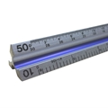 "12"" Solid Aluminum Engineer Triangular Scale"