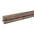 30cm Solid Aluminum Metric Triangular Scale