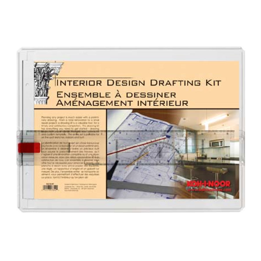 Koh I Noor Portable Interior Design Drawing Board Drafting Kit