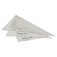 Clear Acrylic Triangles - Straight Edge