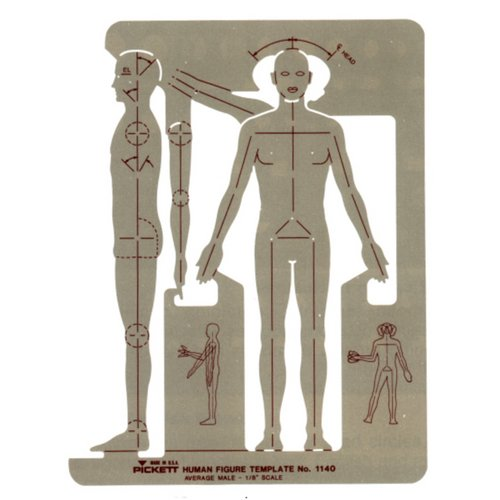 1140i : Pickett Male Human Figure Template