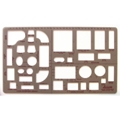 "1/4"" Scale Home Furnishings Template"