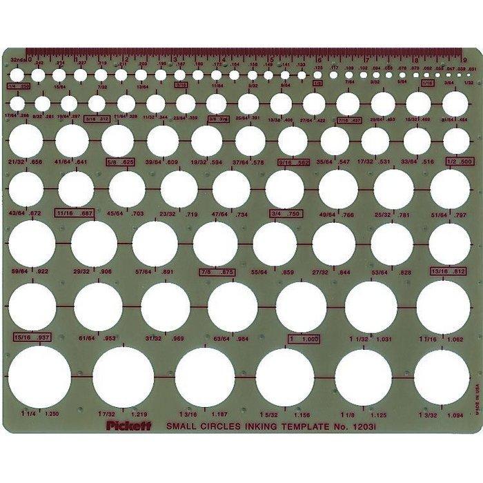 pickett small circle template 1203i
