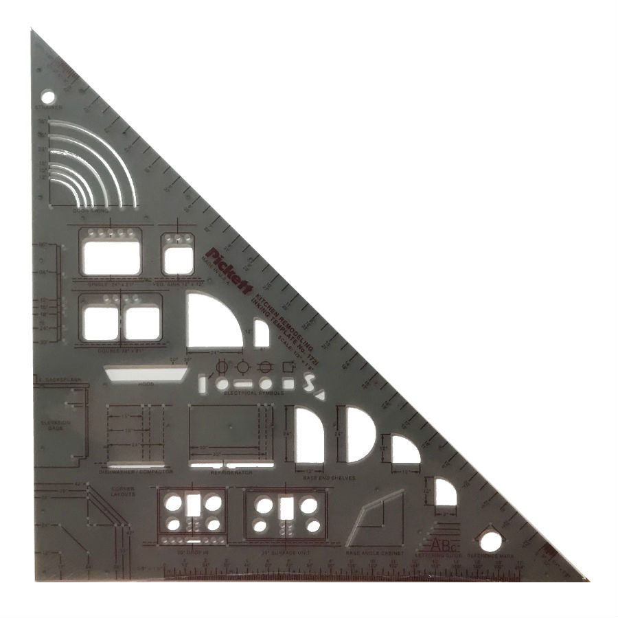 pickett 1 2 scale kitchen remodeling template 172i