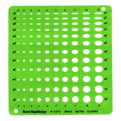 2072R : Chartpak Metric Small Ellipses Template