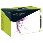 Premier Double-Ended Brush Markers - Assorted Colors, Set of 200 Drafting Supplies, Art Markers, Prismacolor Brush Markers