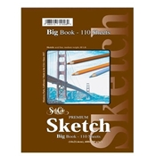"#92 - 5.5""x8.5"" Big Sketch Book -Side Spiral 110 Sheets"