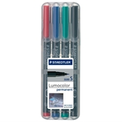 Lumocolor Permanent Marker Superfine Set of 4