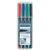 Lumocolor Permanent Marker Medium Set of 4
