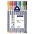 Triplus Fineliner Pens - Set of 10 Colors