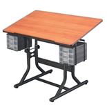 CM40-3-WBR : Alvin Craftmaster Hobby Station, Color: Black Base / Cherry Wood Top