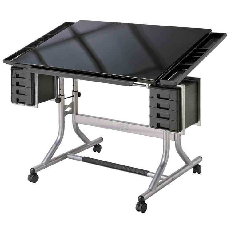CM48GL : Alvin CraftMaster II Glass Top Craft And Drawing Table