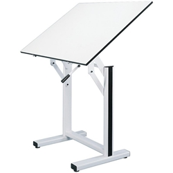 "EN48-4 : Alvin 36"" x 48"" Ensign Drafting Table, Base Color: White"