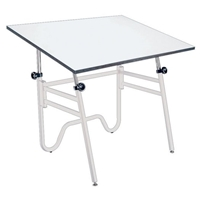 "OP36-4 : Alvin 24"" x 36"" Opal Drafting Table, Base Color: White"
