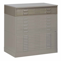 "7764 : Mayline Two-Drawer Interlocking Plan File for 24"" x 36"" Media"