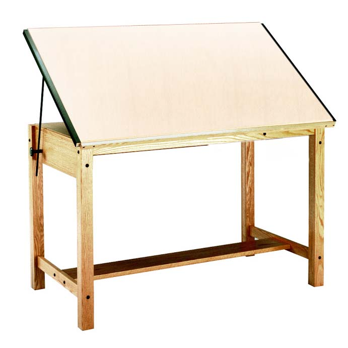 Mayline 37 5 X 72 Wood 4 Post Drafting Table 7707 7707a