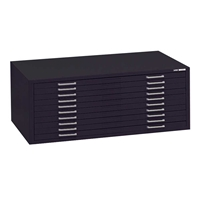 "7677 : Mayline 10-Drawer Museum Flat File for 24"" x 36"" Media"