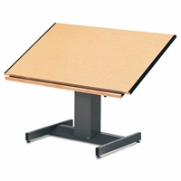 "8694B : Mayline 37.5"" x 48"" Futur-Matic Drafting Table, Electric Height / Manual Tilt"