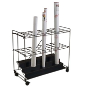 "RF36 : Mayline 36 Compartment Roll File Cart - 3.5"" Openings"