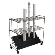 "RF60 : Mayline 60 Compartment Roll File Cart - 2.5"" Openings"