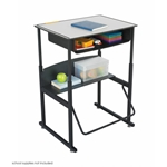 1204GR : safco 28 x 20 Premium Top AlphaBetter? Desk with Book Box, Color: Grey