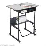 1209GR : safco 36 x 24 Premium Top AlphaBetter? Desk with Book Box, Color: Grey