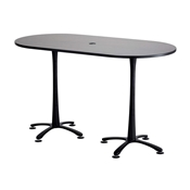 "72"" x 36"" Cha-Cha Bistro-Height Teaming Table"