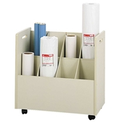 3045 : safco Mobile Roll Files/8 Tubes