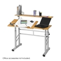Height Adjustable Split Level Drafting Table