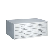 "4969LG : safco Facil 5-Drawer Flat File for 24"" x 36"" Media"