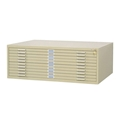 "4986 : safco 10-Drawer Flat File for 30"" x 42"" Media"