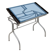 Folding Glass Top Craft Station Drafting Furniture, Drafting Tables and Drawing Boards, Craft and Hobby Tables, drawing table