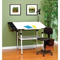"4 Piece 30"" x 42"" Ultima Drafting Desk Set in White"