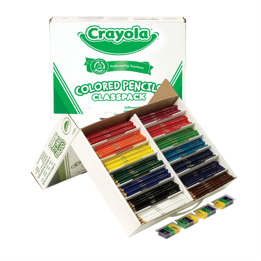 Long Colored Pencil Class Pack - 240 Piece Set
